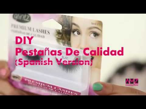 DIY false eyelash application (Spanish Version)