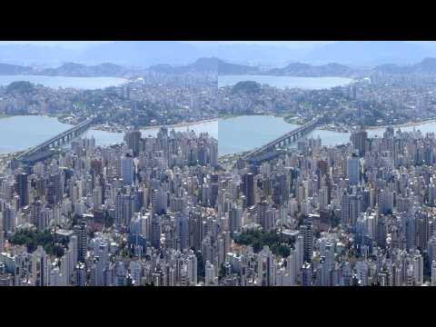 3D - Florianópolis - Morro da Cruz e Lagoa da Conceiçao - Jan/2015