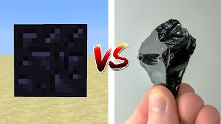 MINECRAFT BLOCKS VS REAL LIFE ROCKS