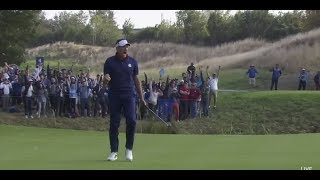 Rory McIlory's miraculous escape followed by Ian Poulter's birdie