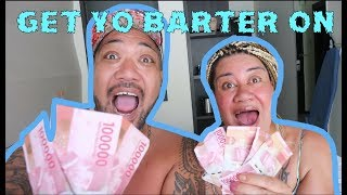"""GET YO BARTER ON. """"How we shop in Bali, and singing Vlog with Ms Bee with local Band (Bali Vlog 16.)"""