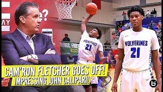 The Kid That Impressed John Calipari!! Cam'Ron Fletcher RESPONDS To Kentucky Commit!