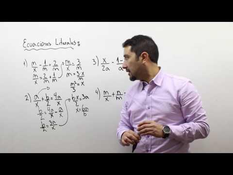 Ecuaciones literales 3