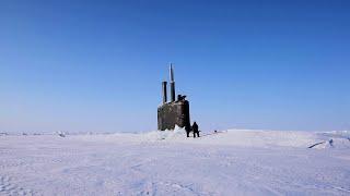 USS Toledo Surfaces At Ice Camp Seadragon