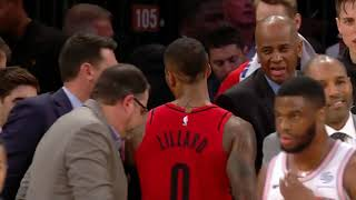 Damian Lillard with a cold-blooded step-back dagger in New York - MSG