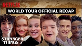 Stranger Things 3 Cast World Tour - Best Moments | Netflix