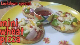 Mini Wheat Pizza   No Yeast No Oven   Kids Special   Neetu's Home Recipies
