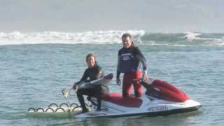 Super vagues et spot de surf