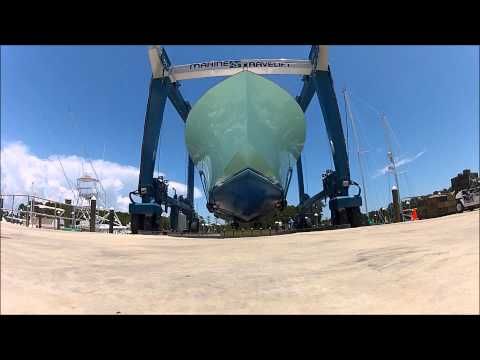 Worm's-Eye View of an F&S Sportfish Haul Out