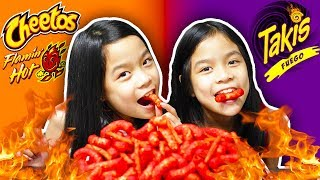 HOT CHEETOS AND TAKIS CHALLENGE | Tran Twins