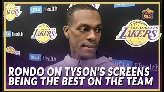 Lakers Interview: Rondo On Integrating Tyson Chandler On Offense and Returning to Sacramento