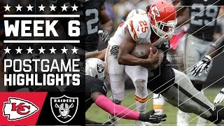 Chiefs vs. Raiders | NFL Week 6 Game Highlights