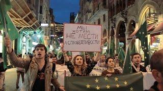 Шествие черкесских активистов в Стамбуле