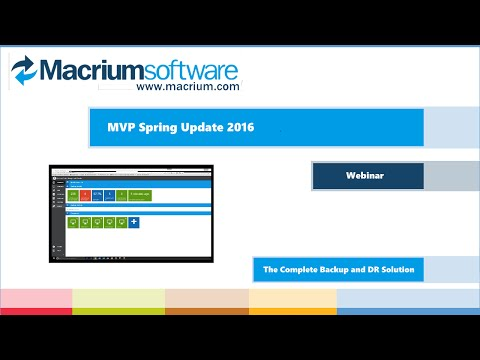 Macrium Partner Webinar - April 2016