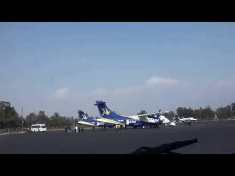 Nepal Video - Bus Ride In Tribhuwan International Airport Runway in Kathmandu 2011 [Full HD]