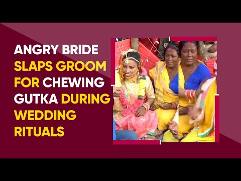 Bride slaps groom for chewing gutka during wedding rituals, video goes viral