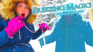Bandits Get Frozen from Magic Icicle! Escape the Bandits on the Frozen Mountain! / The Beach House