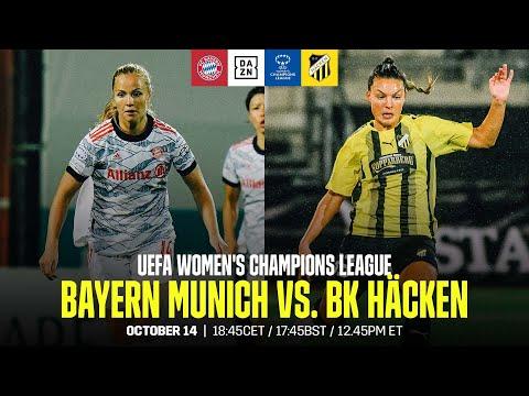 Bayern Munich vs. BK Häcken   UEFA Women's Champions League Matchday 2 Full Match