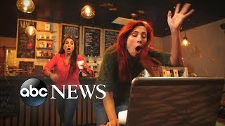Woman spills coffee on customer's laptop | What Would You Do? | WWYD