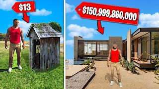 CHEAPEST vs Most EXPENSIVE HOUSE In GTA 5.. (Mods)