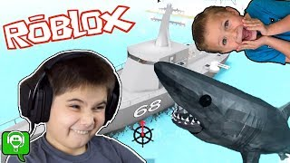 Roblox Shark Game Challenge With HobbyKidsGaming