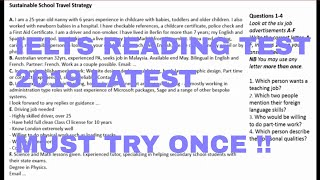 ielts general training reading practice test with answers |  2019