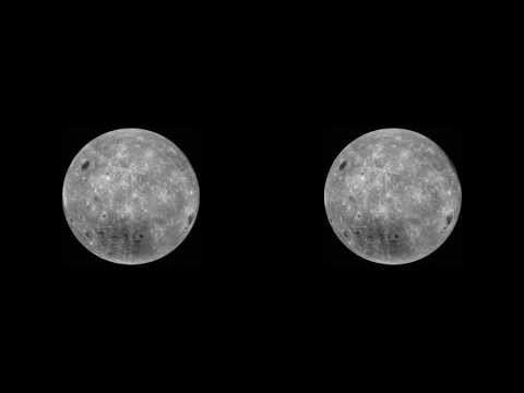 Moon 3D real stereoscopic