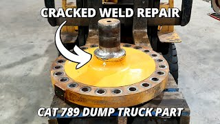 Repair a Cracked Caterpillar 789 Dump Truck Suspension Part | Machining & Welding