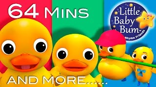 Six Little Ducks | Plus Lots More Nursery Rhymes | 64 Minutes Compilation from LittleBabyBum! - YouTube