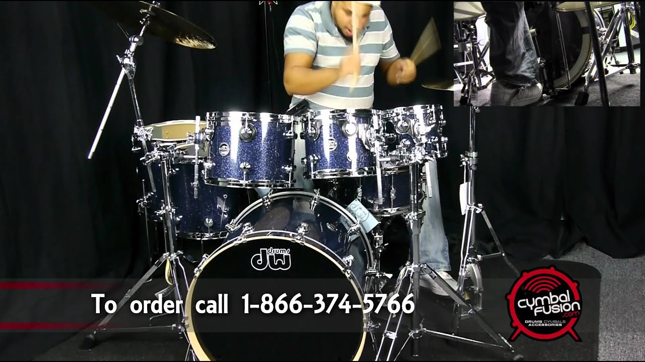dw performance series drums indigo glass exclusive finish youtube. Black Bedroom Furniture Sets. Home Design Ideas