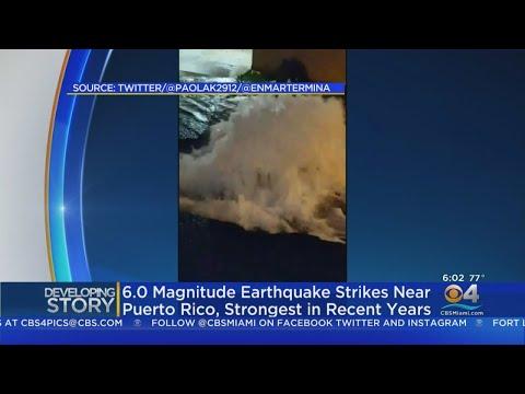 Magnitude Six Earthquake Off Puerto Rico