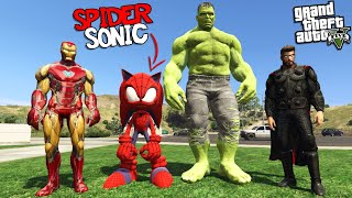 SPIDER SONIC joins the AVENGERS (GTA 5 Mods)