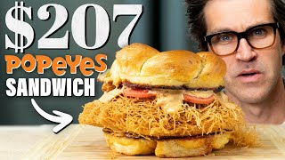 $207 Popeye's Spicy Chicken Sandwich Taste Test | Fancy Fast Food