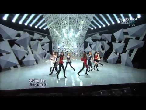 SNSD The Boys Live Compilation [Taeyeon High Note]