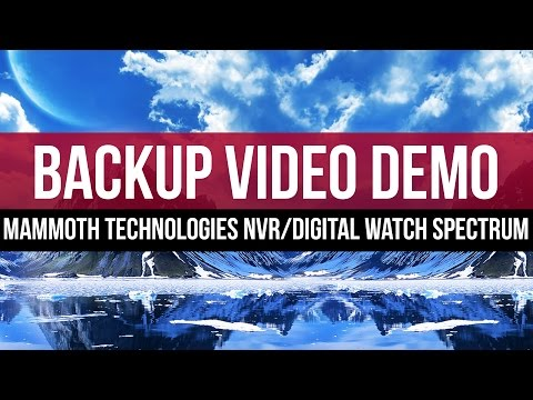 Video Backup Demo: Mammoth Technologies NVR with Digital Watch Spectrum