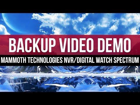 Video Backup Demo: Mammoth Technologies NVR with Digital Watch Spectrum