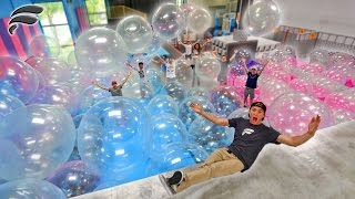 WUBBLE BUBBLES FILL TRAMPOLINE PARK! (BUBBLE WONDERLAND)