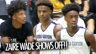 Bronny James And Zaire Wade CRAZY FIRST GAME In Front Of Mikey Williams & Dwyane Wade