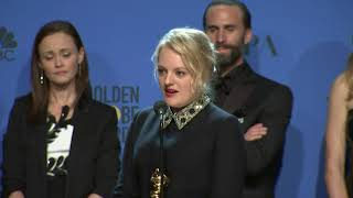 Elisabeth Moss & 'The Handmaid's Tale' - Golden Globes 2018