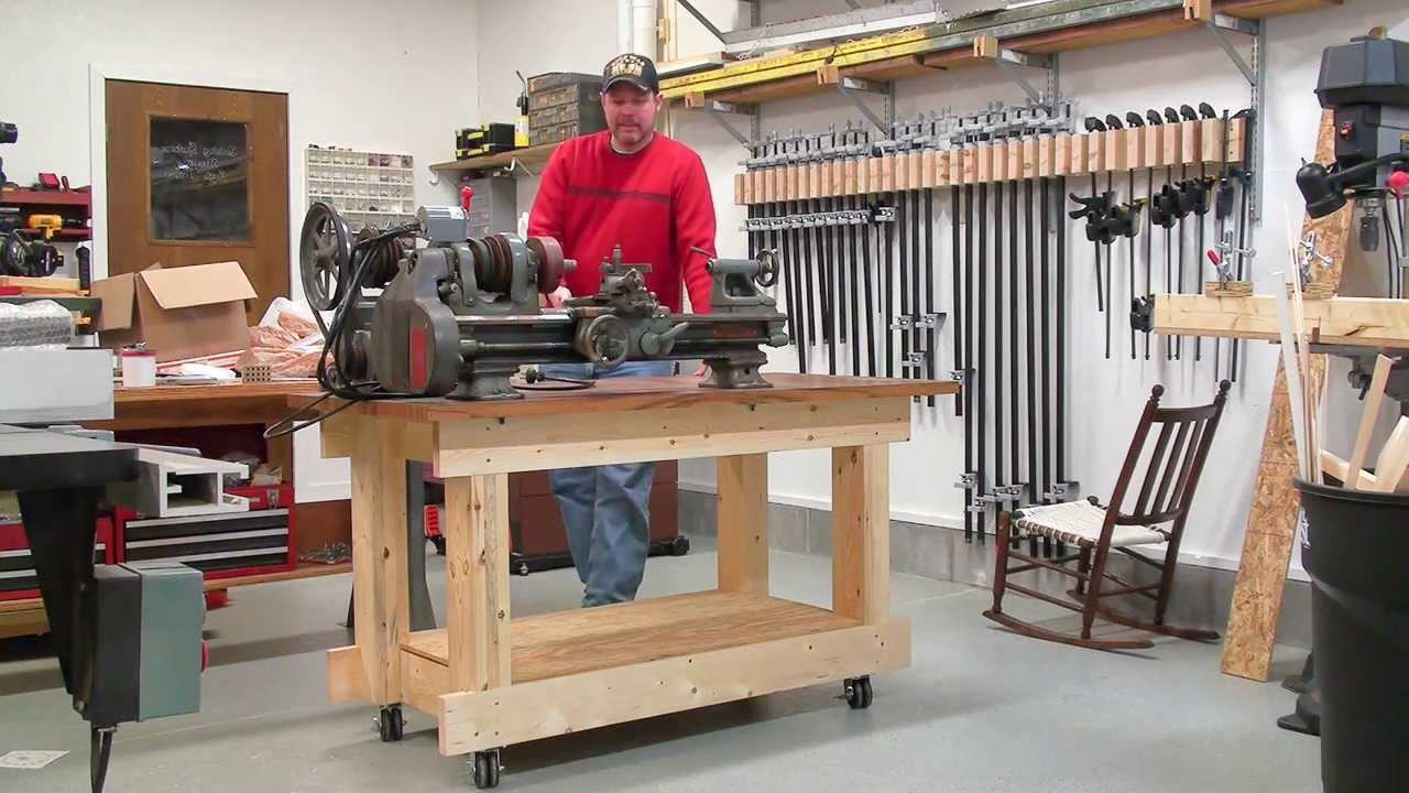 Building A Strong Workbench Frame Made Of All 2x6 Boards