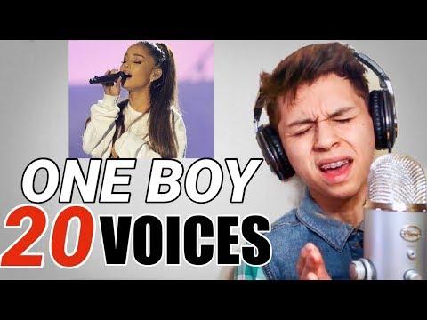 ONE BOY 20 VOICES (Ariana Grande, Shawn Mendes, Fergie, Etc.)