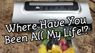 Cosori Vacuum Sealer - I Think I'm IN Love! - I Want To Vacuum Seal It ALL - Review