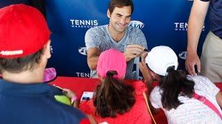Roger Federer Autograph Session