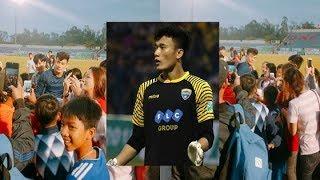Sau khi vào Quảng Nam, thủ môn Bùi Tiến Dũng U23 Việt Nam bất ngờ bị người hâm mộ làm 'ngạt thở'