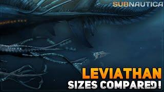 ALL LEVIATHAN sizes compared! | Subnautica & Below Zero