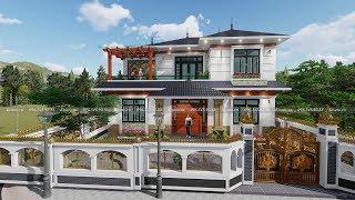 Mẫu Biệt Thự 2 Tầng Hiện Đại Đẹp Nổi Bật Nhất Như Quỳnh Văn Lâm Hưng Yên