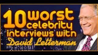 10 Craziest David Letterman Interviews