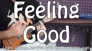 Feeling Good - Nina Simone - Ukulele Tutorial - Jazz Ukulele walking bass Tutorial