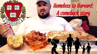 HOMELESS TO HARVARD! | Vegan Buffalo Fried Chicken and Mac and Cheese Mukbang  | Vegan Mukbang