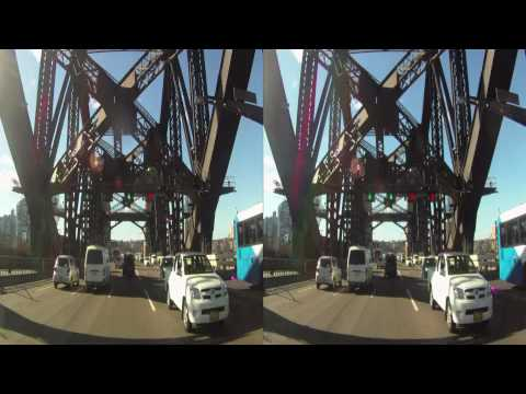 Sydney Harbour Bridge HD 3D GoPro video